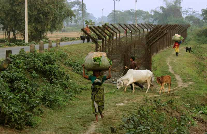 goods and cattle at porous border.