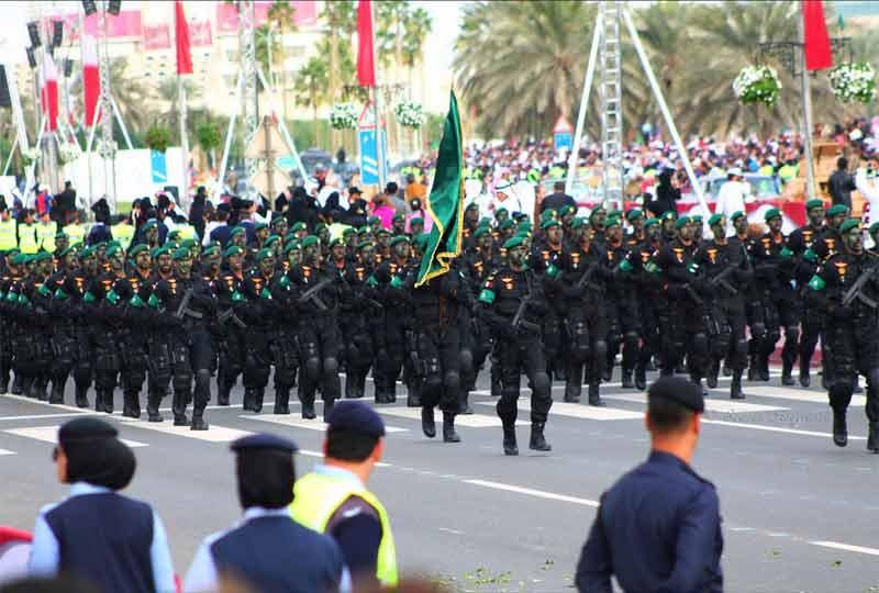 Qatar military on Qatar National Day 2012.