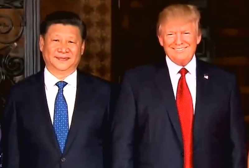 Xi Jinping and Donald Trump.