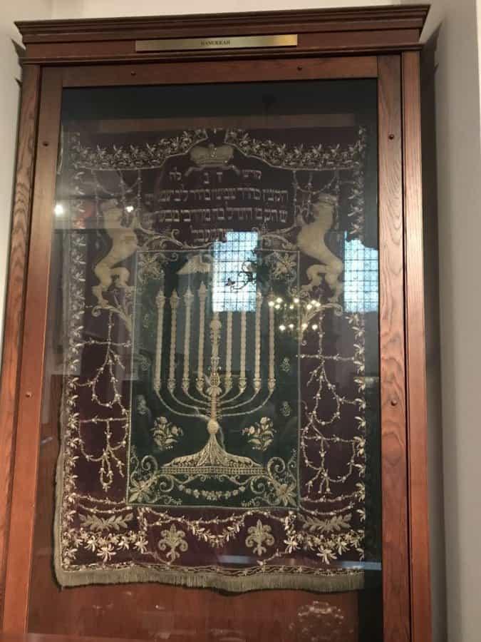 Jewish-Klausen Synagogue-Jewish tradition display.