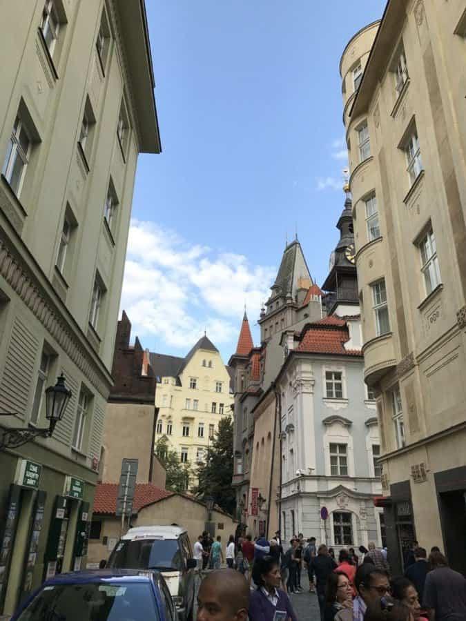 Jewish quarter Josefov street.