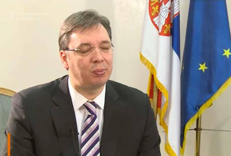 Serbia's president Aleksandar Vucic.