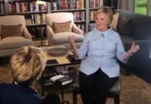 hillary clinton interviewed on cbs.