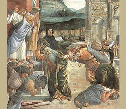 Korach's punishment by Sandro Botticelli.