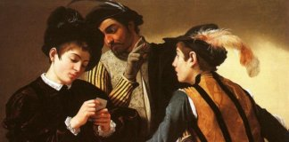 The Cardsharps by Caravaggio.