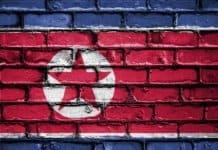 The DPRK flag.