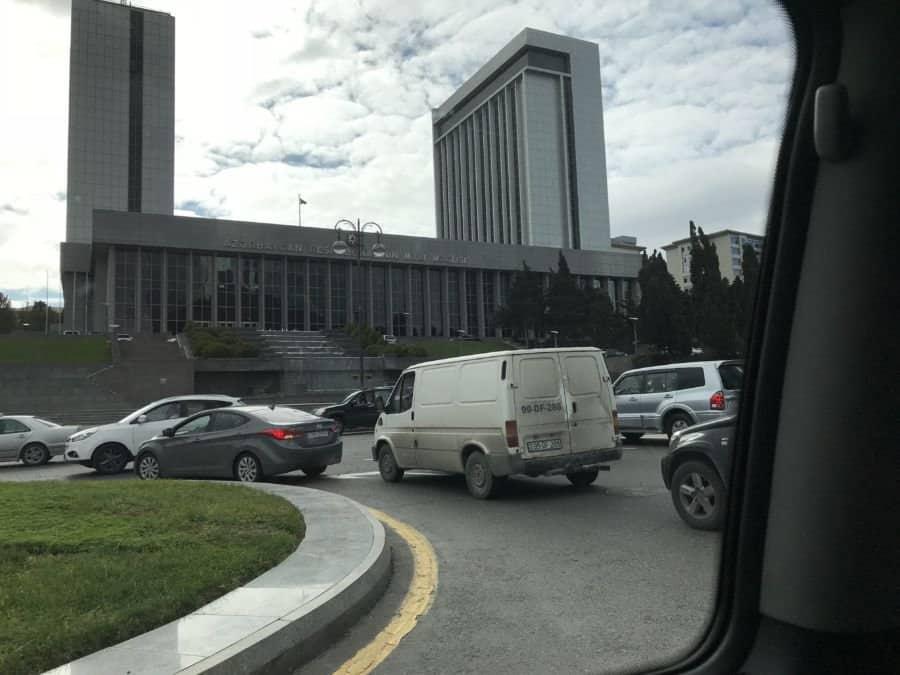 Azerbaijan Parliament building in Baku
