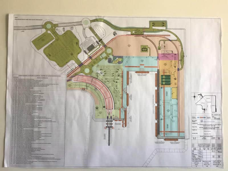 Baku port plan.