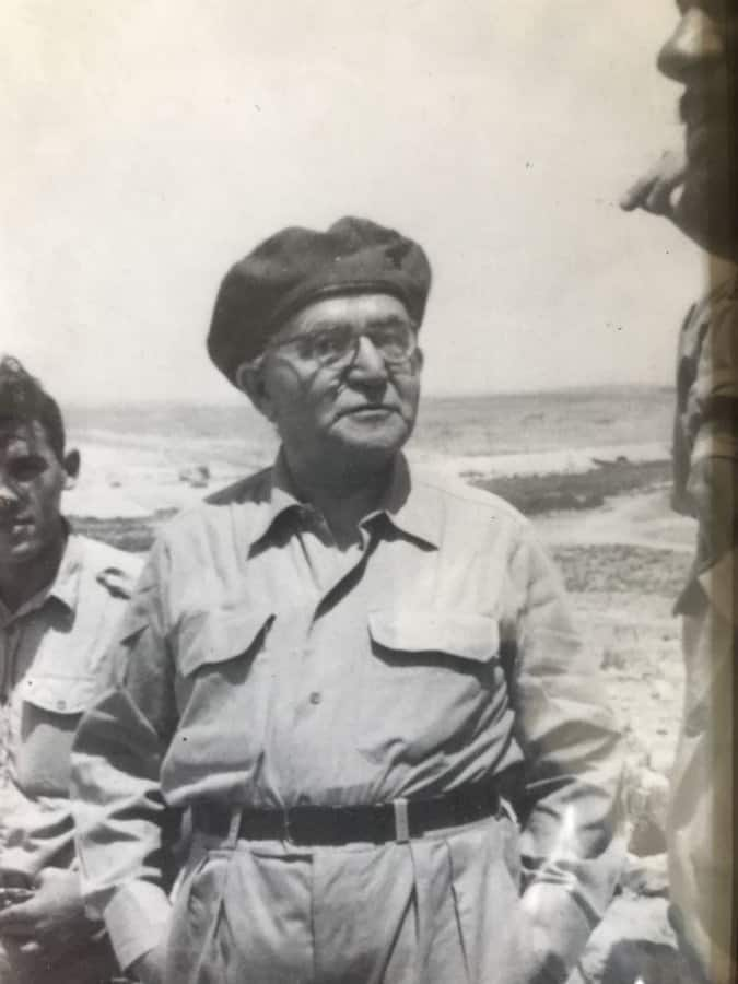Historic photo of David Ben Gurion, Israel's first Prime Minister