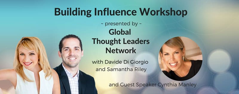 building influence workshop for Global Thought Leaders Network.