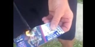 burning nfl tickets.