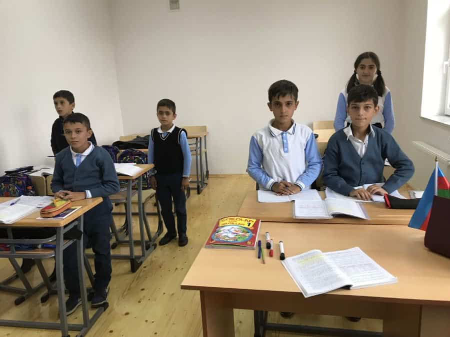 Çocuq Mərcanlı village school - more kids will join classes