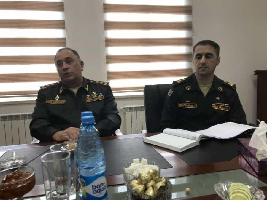 Defense Minister Deputy-Lt. General Kerim Veliyev.
