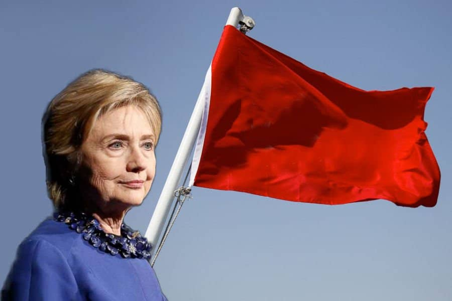 hillary red flag.
