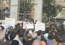 iranians protest suppression and executions.