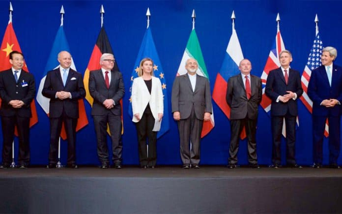 Representatives of the countries who signed the JCPOA.