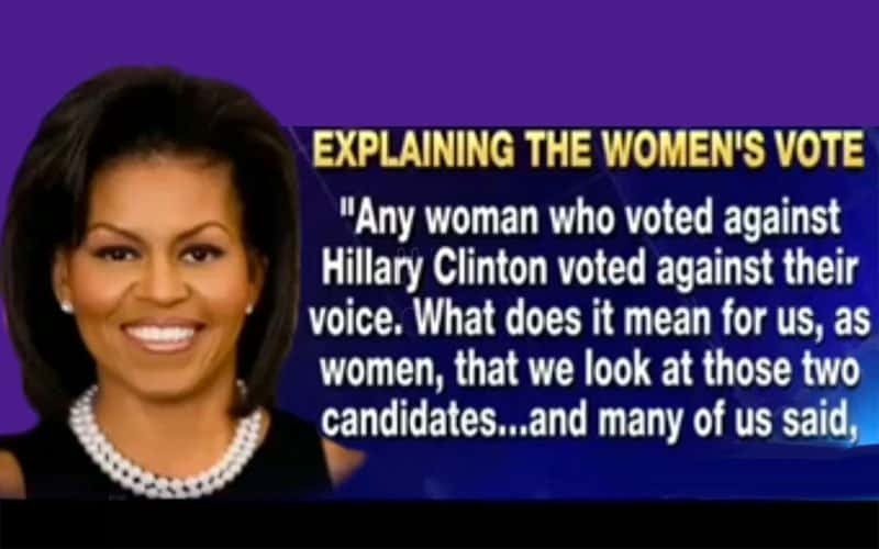 The Word for Michelle Obama Is Hypocrite.