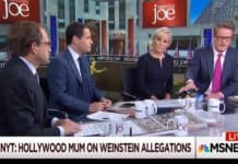 morning joe discusses weinstein.