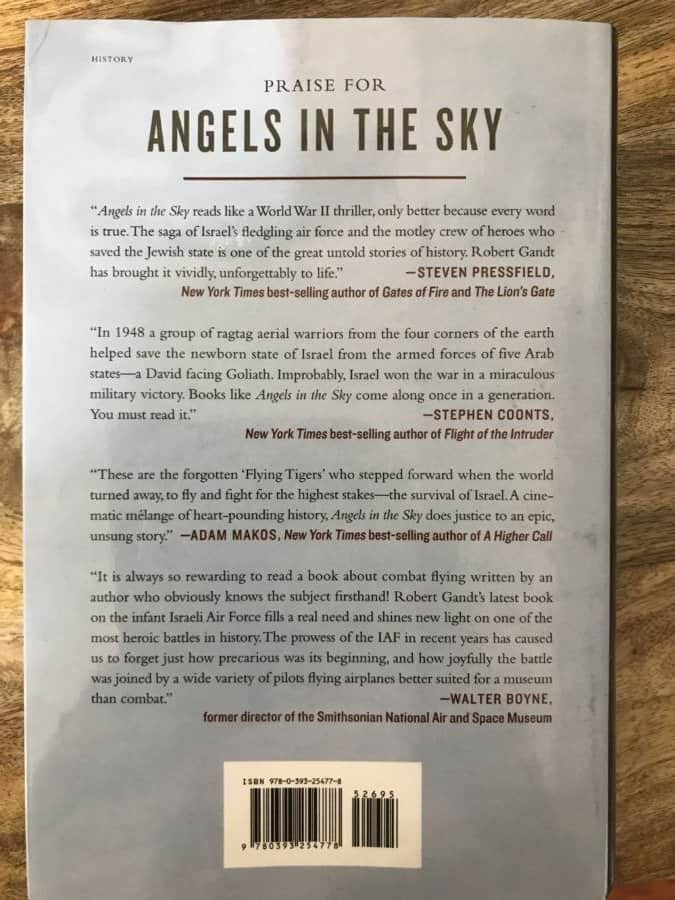 Angles In The Sky book cover-back page