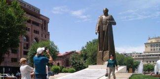 President Serzh Sargsyan of Armenia unveils statue of Nazi collaborator Garegin Nzdeh General of the Armenian Legion Nazi Wehrmacht.
