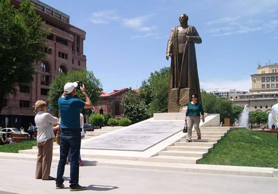 President Serzh Sargsyan of Armenia unveiled statue of Nazi collaborator Garegin Nzdeh General of the Armenian Legion Nazi Wehrmacht.