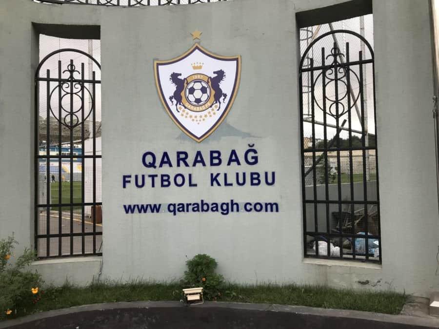 Qarabağ FK club entrance.