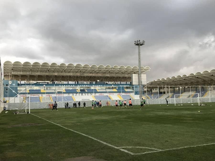 Qarabağ FK team in training.