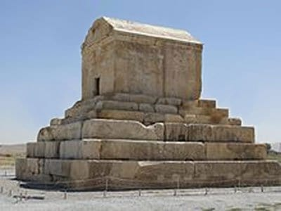 tomb of cyrus, iran.