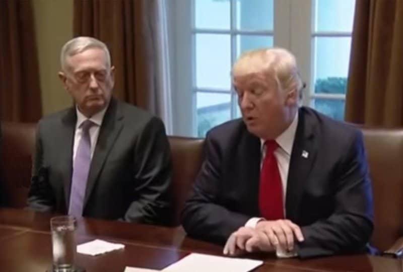 Trump's position on Iran.