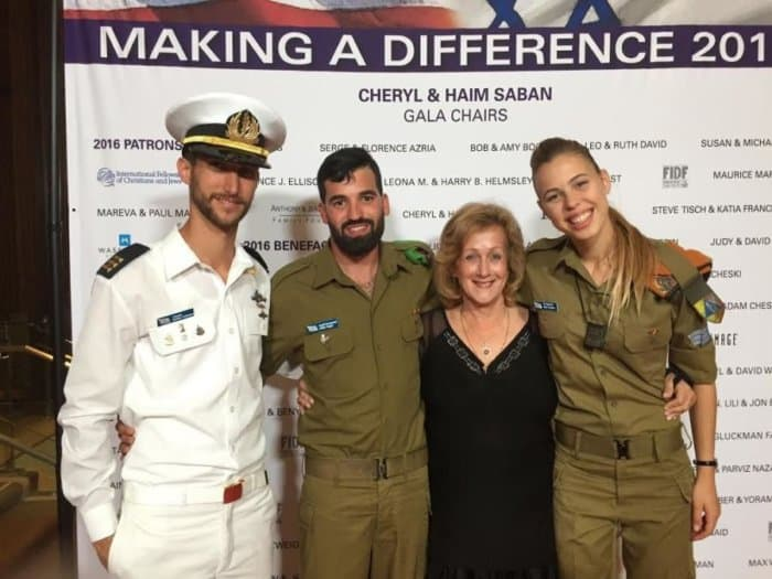 The writer with IDF soldiers