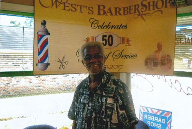 Arkansas barber Eric West.