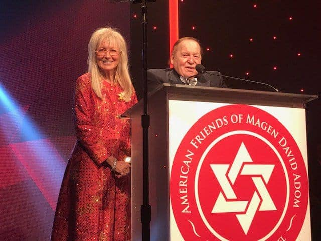 Dרץ Miriam and Sheldon Adelson Humanitarian of the Year Awardees