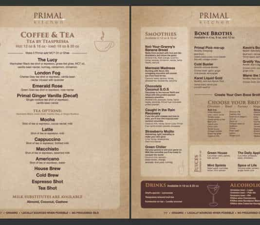 primal kitchen menu.