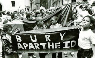 Protests: South Africa bury apartheid