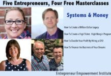 systems and money masterclasses.