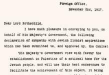 Balfour declaration.