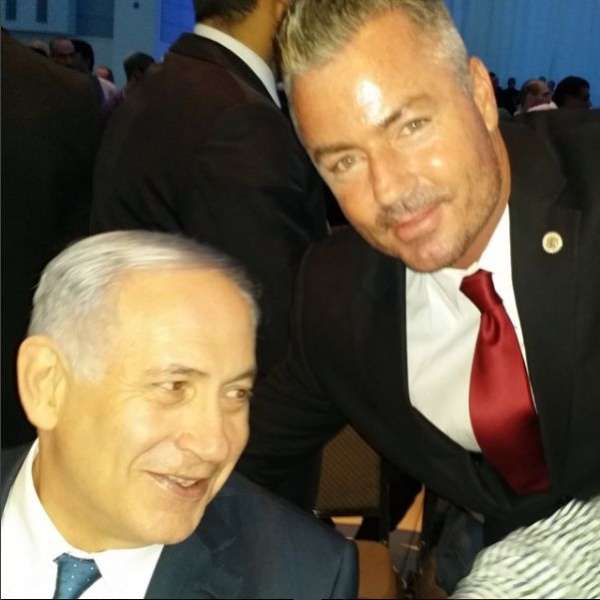 Travis Allen In Israel with PM Netanyahu after Netanyahu was reelected in 2015