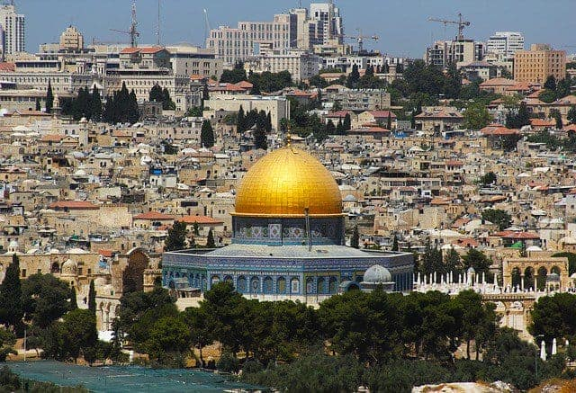 The city of Jerusalem.