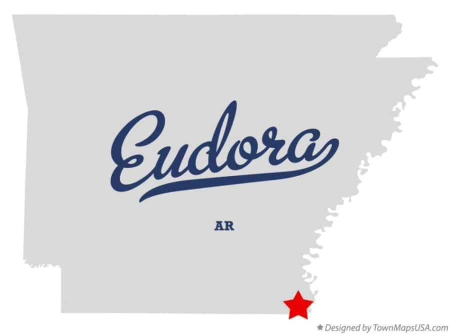 Map of Eudora AR
