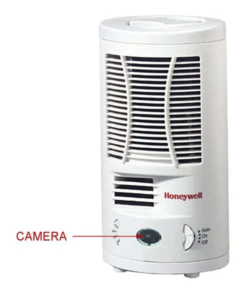 Honeywell air purifier hidden camera