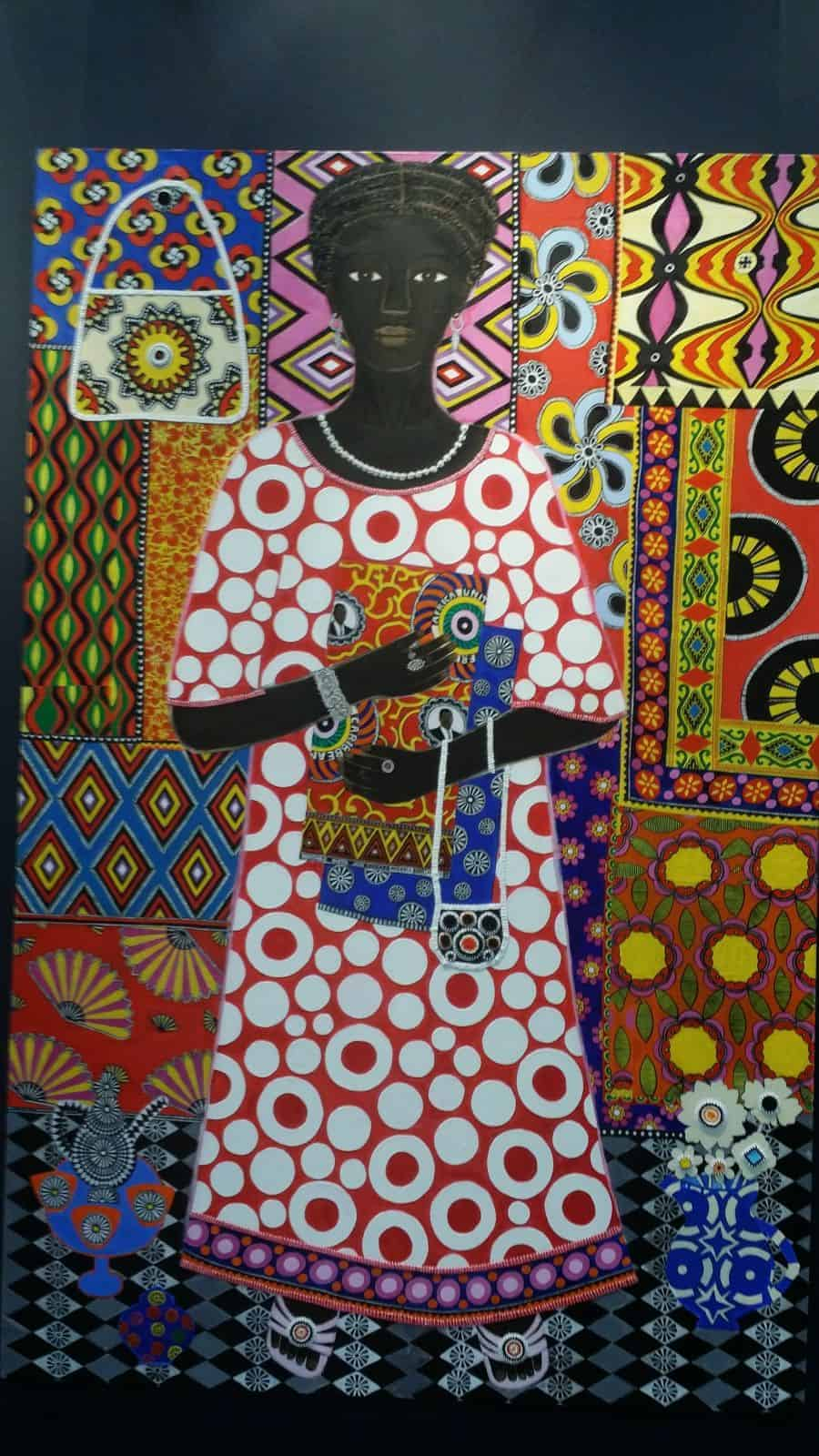 Carla Kranendonk with african collage.