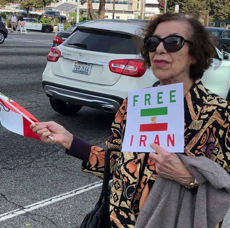 free iran demonstrator.