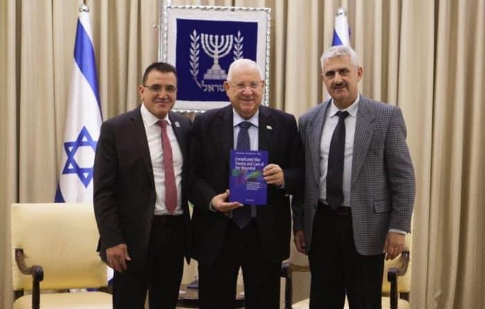 L-Dr. Zarka, Reuven Rivlin, President of Israel