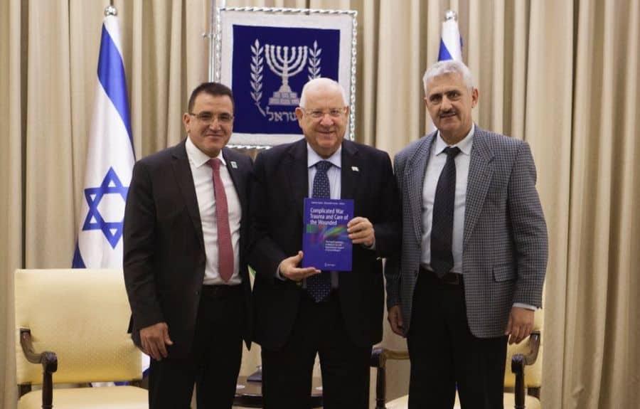 L - Dr. Zarka, President Rivlin, President of Israel