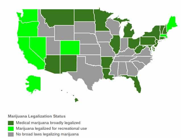 marijuana legalization by state.