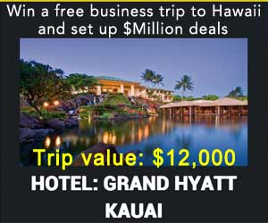 win a free business trip to Hawaii