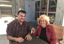 nurit greenger with mahomed khan.