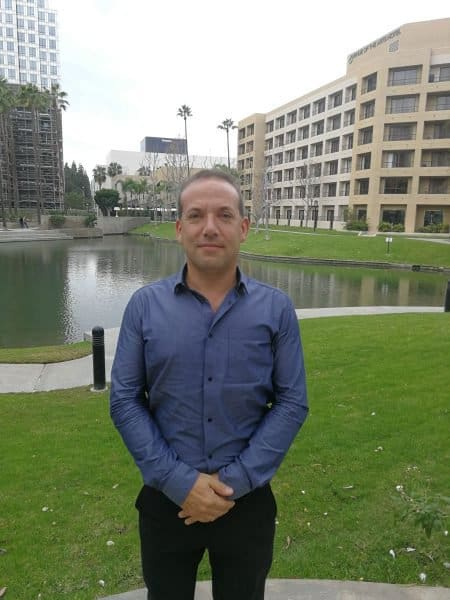 Oded Halevy nearby the Merage Institute