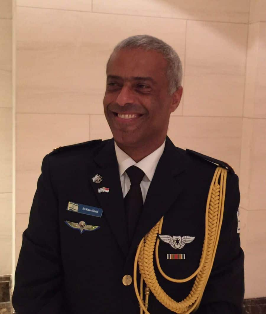 Brigadier General Ronen Simchi the pilot