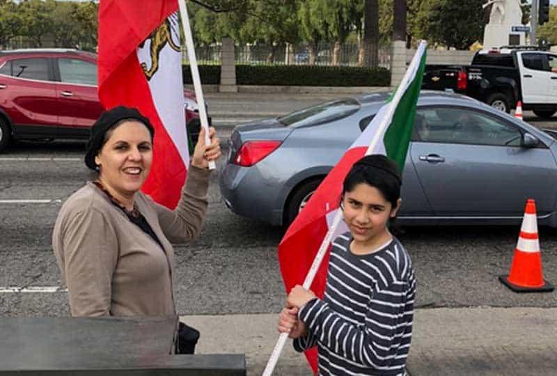 two free iran demonstrators